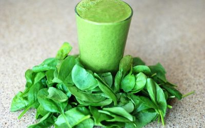 Chia Peach Green Smoothie Meal