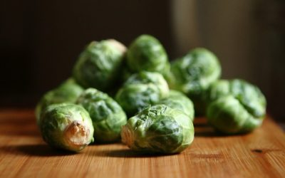 Garlic Lemon Roasted Brussel Sprouts.